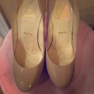 Authentic Christian Louboutin Round Toe Pumps